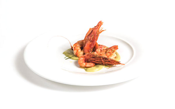 Prawns with Olitalia Rosemary-Flavored Oil and herbs 1