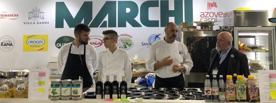 Olitalia in Vicenza with chef Renato Rizzardi on the occasion of Cosmofood 1