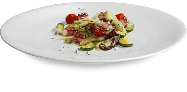 Octopus cooked at low temperature with its vegetables 1